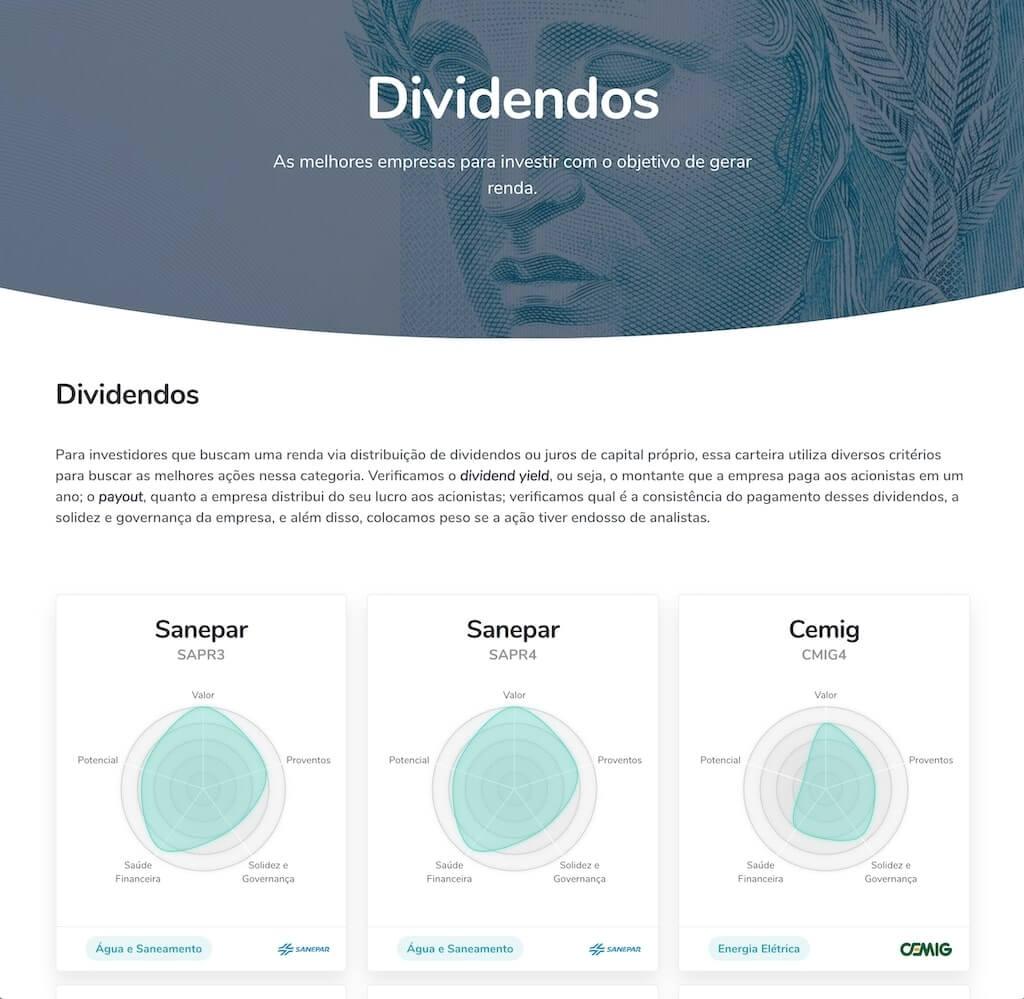 Ranking de dividendos